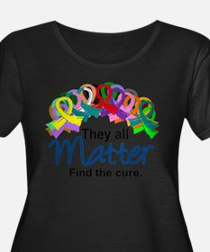 D All Ribbons 7 Plus Size T-Shirt