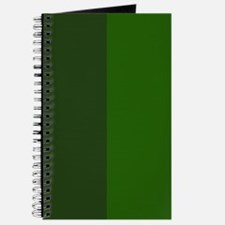 Dark Green Halves Journal