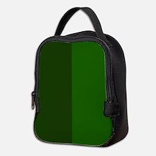 Dark Green Halves Neoprene Lunch Bag