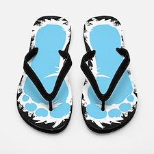 Abominable Snowman Flip Flops