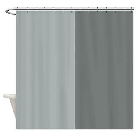 dark and light grey half shower curtain by patternedshop. Black Bedroom Furniture Sets. Home Design Ideas