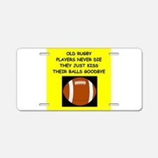 RUGBY10 Aluminum License Plate