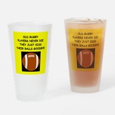 RUGBY10 Drinking Glass