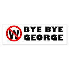 """""""Bye Bye George"""" Bumper Bumper Sticker"""