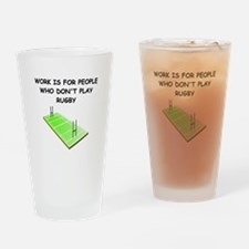 RUGBY3 Drinking Glass