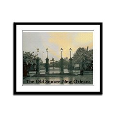 Old Jackson Square Framed Panel Print
