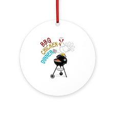 BBQ CHICKEN DINNER Ornament (Round)