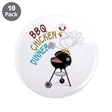 """BBQ CHICKEN DINNER 3.5"""" Button (10 pack)"""