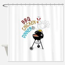 BBQ CHICKEN DINNER Shower Curtain