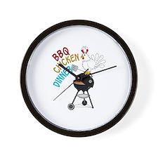 BBQ CHICKEN DINNER Wall Clock