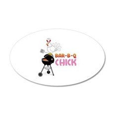 BAR-B-Q CHICK Wall Decal