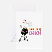 BAR-B-Q CHICK Greeting Cards