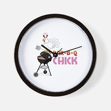 BAR-B-Q CHICK Wall Clock