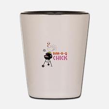 BAR-B-Q CHICK Shot Glass