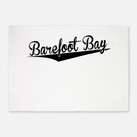 Barefoot Bay, Retro, 5'x7'Area Rug