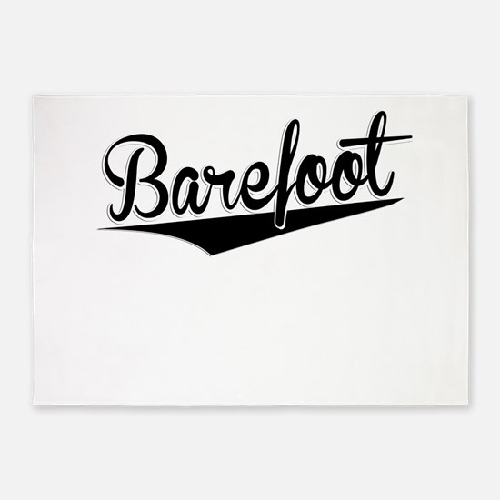 Barefoot, Retro, 5'x7'Area Rug