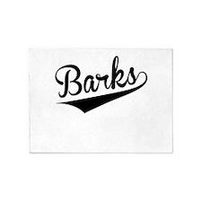Barks, Retro, 5'x7'Area Rug