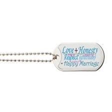 happy marriage Dog Tags