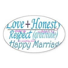 happy marriage Decal