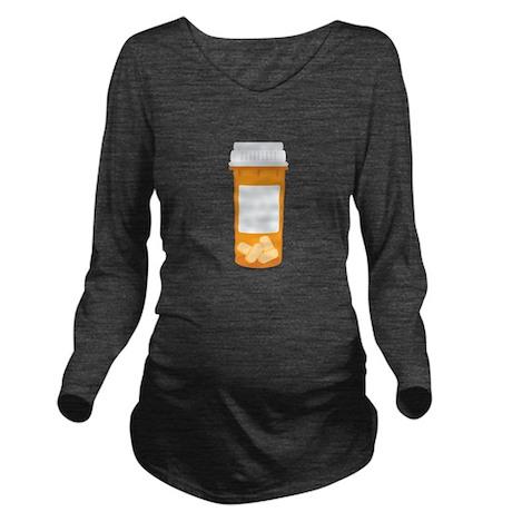 Medicine Pill Bottle Long Sleeve Maternity T-Shirt