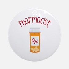 Pharmacist RX Ornament (Round)