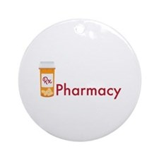 RX Pharmacy Ornament (Round)