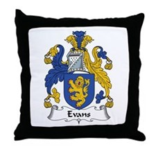 Evans (Wales) Throw Pillow