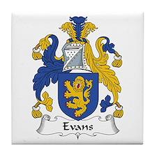Evans (Wales) Tile Coaster