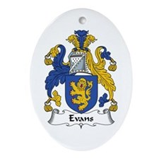 Evans (Wales) Oval Ornament