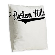 Barton Hills, Retro, Burlap Throw Pillow
