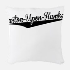 Barton-Upon-Humber, Retro, Woven Throw Pillow