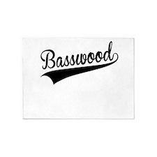 Basswood, Retro, 5'x7'Area Rug