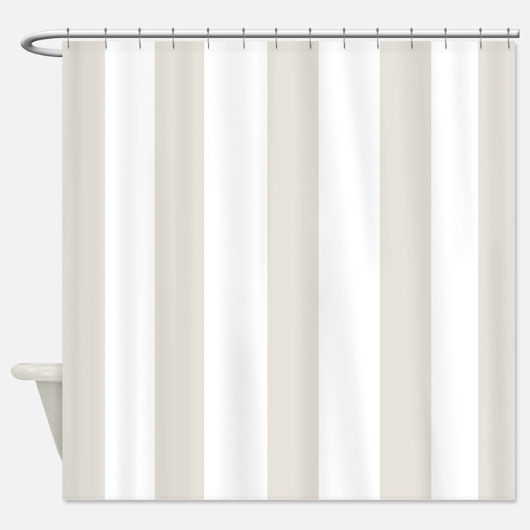Beige And White Striped Shower Curtains Beige And White Striped Fabric Show