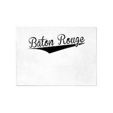 Baton Rouge, Retro, 5'x7'Area Rug