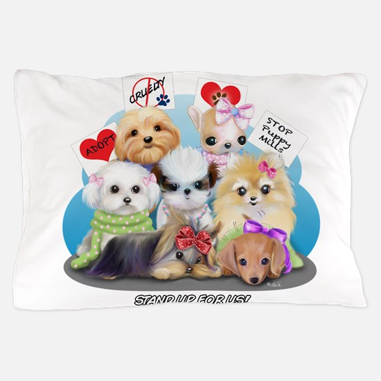 Puppies Manifesto Pillow Case