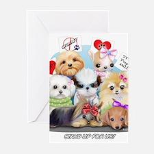 Puppies Manifesto Greeting Cards (Pk of 20)