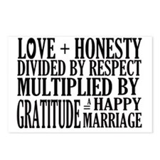 HAPPY MARRIAGE Postcards (Package of 8)
