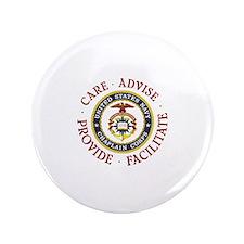 """CARE.ADVISE.PROVIDE.FACILITATE 3.5"""" Button"""