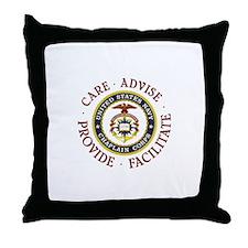 CARE.ADVISE.PROVIDE.FACILITATE Throw Pillow