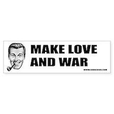 Make Love and War Bumper Bumper Sticker