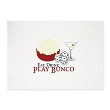 EAT.DRINK.PLAY BUNCO 5'x7'Area Rug