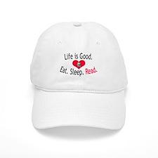 Life is Good - READ - Baseball Cap