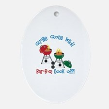 Grills Gone Wild! Bar-B-Q Cook Off! Ornament (Oval