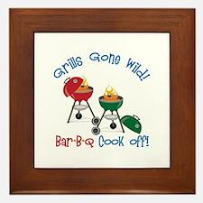 Grills Gone Wild! Bar-B-Q Cook Off! Framed Tile