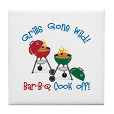 Grills Gone Wild! Bar-B-Q Cook Off! Tile Coaster