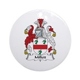 Millett coat of arms Round Ornaments