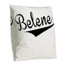 Belene, Retro, Burlap Throw Pillow