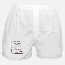 Akita Travel Leash Boxer Shorts