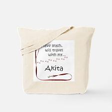 Akita Travel Leash Tote Bag