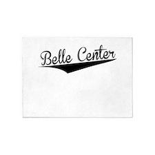 Belle Center, Retro, 5'x7'Area Rug